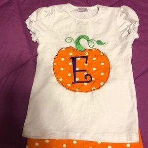 Girls pumpkin outfit